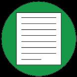 Eine beschriebene Papierseite als Symbol für Bestimmungen