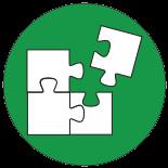 Ein Puzzle als Symbol für Ausbildungen