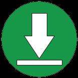 Ein abwärts zeigender Pfeil als Symbol für Downloads