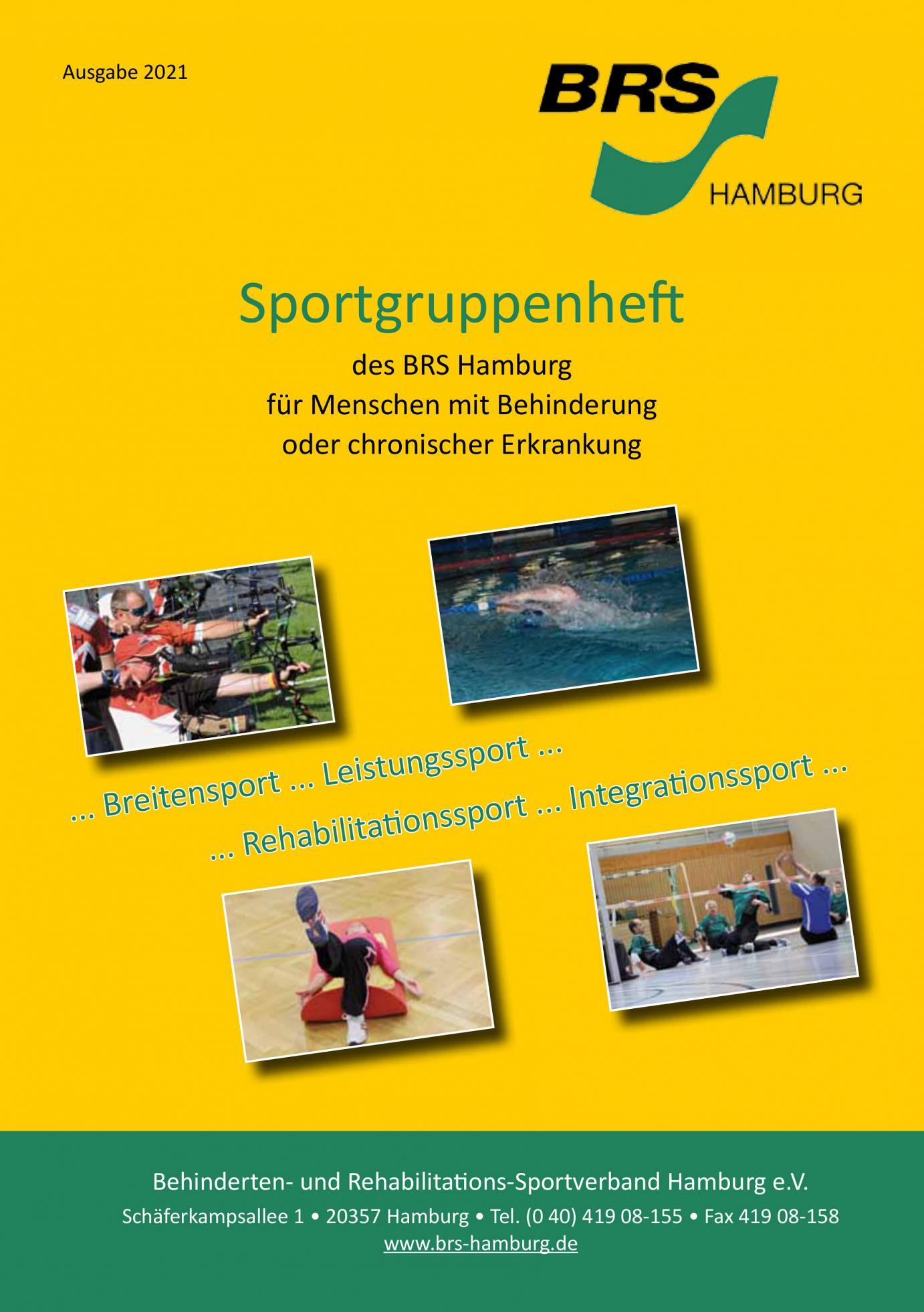 Titelseite des Sportgruppenhefts 2021